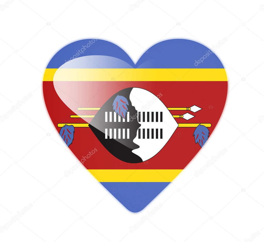 Swaziland 3D heart shaped flag — Stock Photo #10019646