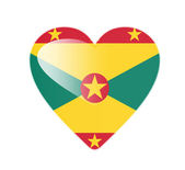 Grenada 3D heart shaped flag — Stock Photo