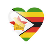 Zimbabwe 3D heart shaped flag — Stock Photo