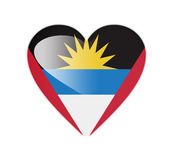 Antigua and Barbuda 3D heart shaped flag — Stock Photo