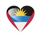 Antigua and Barbuda 3D heart shaped flag — Stock Photo