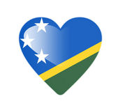 Solomon Islands 3D heart shaped flag — Stock Photo