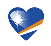 Marshall Islands 3D heart shaped flag — Stock Photo