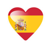Spain 3D heart shaped flag — Stock Photo
