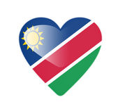 Namibia 3D heart shaped flag — Stok fotoğraf