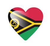 Vanuatu 3D heart shaped flag — Stock Photo