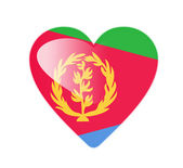 Eritrea 3D heart shaped flag — Stock Photo