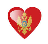 Montenegro 3D heart shaped flag — Foto Stock