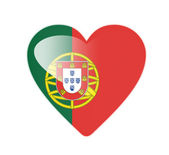 Portugal 3D heart shaped flag — Stock Photo