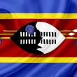 Swaziland waving flag — Stockfoto