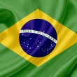 Stock Photo: Brazil waving flag