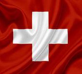 Switzerland waving flag — Stock Photo