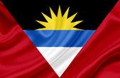 Antigua and Barbuda waving flag — Stock Photo