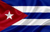 Cuba waving flag — Stock Photo