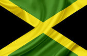 Jamaica waving flag — Stock Photo