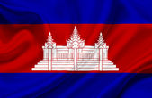 Cambodia waving flag — Stock Photo