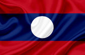 Laos waving flag — Stock Photo