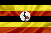 Uganda waving flag — Stock Photo