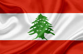 Lebanon waving flag — Stock Photo