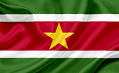 Suriname waving flag — Stock Photo