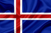 Iceland waving flag — Stock fotografie