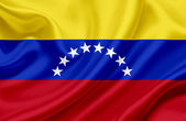 Venezuela waving flag — Stock Photo