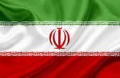 Iran waving flag — Stock Photo