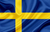 Sweden waving flag — Stock Photo