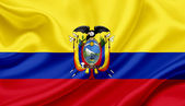 Ecuador waving flag — Stock Photo