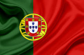 Portugal waving flag — Stock Photo