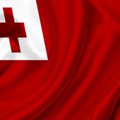 Tonga waving flag — Stock Photo