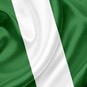 Nigeria waving flag — Stock Photo