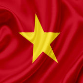 Vietnam waving flag — Stock Photo