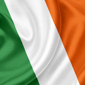 Ireland waving flag — Stock Photo
