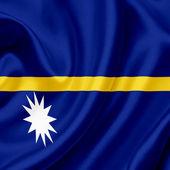 Nauru waving flag — Stock Photo