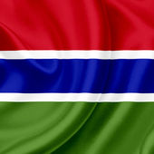 Gambia waving flag — Stock Photo