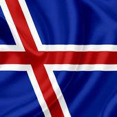 Bandeira de ondulação de Islândia — Fotografia Stock