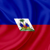 Haiti waving flag — Stock Photo