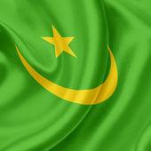 Mauritánie vlající vlajka — Stock fotografie