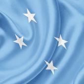 Micronesia waving flag — Stock Photo