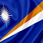 маршалловы острова, размахивая флагом — Стоковое фото