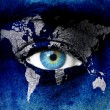 Planet earth and blue human eye — Stock Photo #10526626