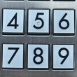 Metal number pad — Stock Photo #10550027