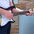 Stock Photo: Mplaying guitar closeup