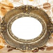 Royalty-Free Stock Photo: Antique empty frame on floral background