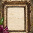 Stock Photo: Vintage golden frame on grunge background