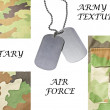 Royalty-Free Stock Photo: Collection of army and military textures with ID tag