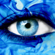 Abstract blue eye — Stock Photo