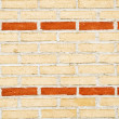Striped brick wall detail — Stock Photo