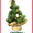 Christmas greeting card — Foto de Stock